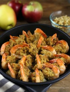 Baked Jumbo Shrimp These stuffed jumbo shrimp are so easy to prepare and taste incredibly delicious!These stuffed jumbo shrimp are so easy to prepare and taste incredibly delicious! Fish Recipes, Seafood Recipes, Appetizer Recipes, Cooking Recipes, Recipies, Seafood Appetizers, Vegaterian Recipes, Bulgur Recipes, Hotdish Recipes