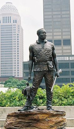 Andrew York, black slave to William Clark and who was an invaluable member of the Lewis & Clark Expedition.  A hunter & explorer, he helped to survey and even saved the lives of others in the expedition on numerous occasions. What must it have been like to return to slavery after 2 years of greater respect...to be the only member of the expedition not to receive recognition, money and land let alone his freedom.