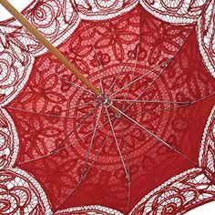 Remedios battenburg dentelle Parasol parapluie ombrelle photo de mariage décoration Rouge: Amazon.fr: Bagages