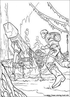 Luke Skywalker on Dagobah coloring page | For the kids | Pinterest ...