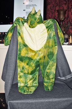 Rare Sears Hoffman Estates Dragon/Dinosaur Role Play Hoodie Dress up Costume EUC #HoffmanEstates #Suit