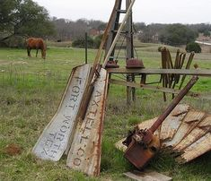 Old Windmill Pieces and Parts. ♥Old Windmills, Vintage Windmills, Rustic Windmills, Country Windmills, Windmill Parts! Texas Things, Old Things, Stencil Lettering, Windmill Blades, Old Windmills, Fixer Upper House, Into The West, Down On The Farm, Water Tower