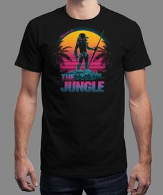 """Welcome to the Jungle"" is today's £9/€11/$12 tee for 24 hours only on www.Qwertee.com Pin this for a chance to win a FREE TEE this weekend. Follow us on pinterest.com/qwertee for a second! Thanks:)"
