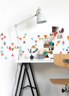 Papier peint aimanté Groovy Magnets coloré losange