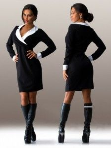 Perfect Black Dress for Office Fashion Brand, Womens Fashion, High Neck Dress, Dresses For Work, Formal, Sweaters, Black, Style, Suits