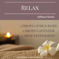 Diffuse this essential oil blend to relax and unwind. Great to diffuse when taking a bath. #essentialoils #doTERRA #diffuserblend
