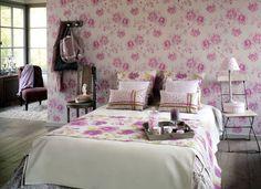 Collection DOLCE VITA. Élegance, souvenir, brocante, shabby-chic, papier-peint, tissus, rose, fleurs, beige