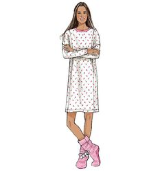 Loungewear sewing pattern from Butterick. B6297, Misses' Top, Dress, Shorts, Pants and Lounge Socks