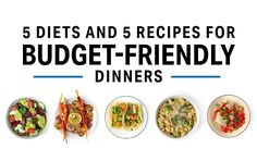 5 Diets and 5 Recipes For Budget-Friendly Dinners Diet Recipes, Cooking Recipes, Healthy Recipes, Diet Meals, Healthy Dinners, Healthy Foods, Cooking Tips, Salad Recipes, Healthy Life