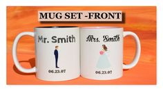bride and groom mug set,wedding couple mugs,wedding mug,wedding gift,gift for the bride and groom,Hubby Wifey,Mr and Mrs mug set,anniversary by HotTouch on Etsy