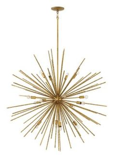 A seamless blend of vintage sophistication and contemporary clout, Tryst offers a striking mix of design elements. Hammered bronze stems radiating from a spherical body shimmer as the light dances ...