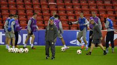 Liverpool's Northern Irish manager Brendan Rodgers attends a training session at Anfield in Liverpool, north west England, on October 21, 2014 ahead of their forthcoming UEFA Champions League, group B football match against Real Madrid at Anfield on October 22