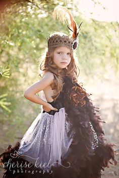 l o v e  c r u s h ... Boho Princess Crown...vintage lace crown large ostrich feathers shabby rosettes pearls photography prop