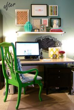 love this green chair for a desk