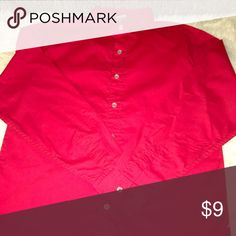 """Faded Glory Boys Button Down Beautiful Red Faded Glory Boys Button Down is Like New and Never Worn! 26"""" from below collar at bottom hem line. Faded Glory Shirts & Tops Button Down Shirts"""