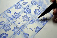 faux tile effect - use simply scored to make it easy, Splitcoaststampers - Tutorials