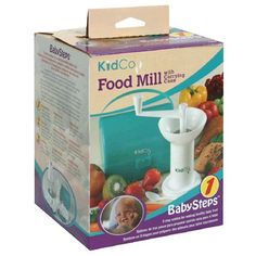 KidCo Baby Steps Food Mill, with Carrying Case , 1 food mill KidCo http://www.amazon.com/dp/B00006G9LI/ref=cm_sw_r_pi_dp_bajgub1HET4PY