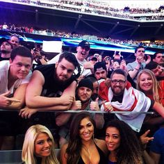 Alexa Bliss, Devin Taylor & Jojo with fans at WrestleMania 31