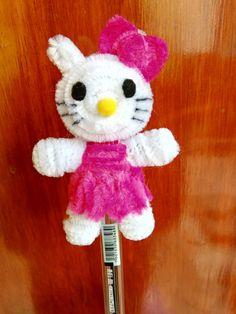 Como hacer a kitty en limpiapipas
