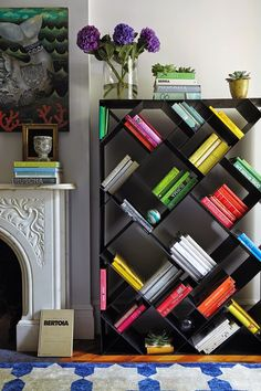 What a unique bookshelf! Do you think this could be a DIY project?!