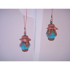 Pod charms from B'sue, using our Old Rose Ox copperplated findings and earwires, with vintage plastic beads.