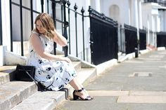 Zara floral two piece co-ord, minimal accessories