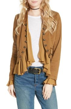 Free People Romantic Ruffle Jacket available at #Nordstrom #Unique_Womens_Fashion