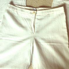 Armani collezioni pants Rayon cotton linen blend textured pants Armani Collezione Pants Trousers