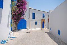 Sidi Bou Said, Tunisia. Beautiful streets of Sidi Bou Said, Tunisia , Sidi Bou Said, Beautiful Streets, Beautiful Places, Web Design, Shops, Travel Magazines, Location, Places Ive Been, Sailing