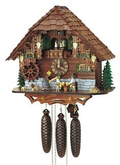 Oh, how I loved cuckoo clocks... especially the little chalet ones where the little man would pop out, then the little woman... and the brass pine cone pendulums