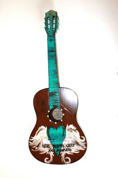 Painted Guitar www.ruralhaze.com