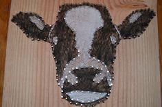 DIY String Art - Cow