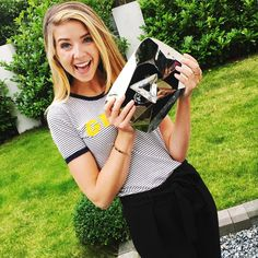 Zoella and  10 million YouTube subscriber diamond play button
