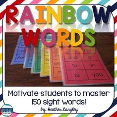 Rainbow Words are a fun and engaging way to practice SIGHT WORDS in the classroom and at home. Students work their way through each level (25 words per color of the rainbow).