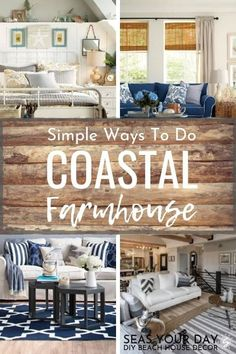 beach cottage style If coastal and farmhouse decor had a baby.Coastal decor and farmhouse style go together like peanut butter and chocolate. Simple and easy ideas to mix and match beach and rustic styles for the most comfy and casual living home. Coastal Farmhouse, Farmhouse Interior, Modern Farmhouse Decor, Coastal Cottage, Coastal Decor, Farmhouse Style, Rustic Style, Rustic Cottage, Cozy Cottage