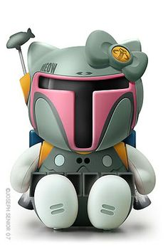 BOBA FETT kitty!!!! should print and frame this for kyree