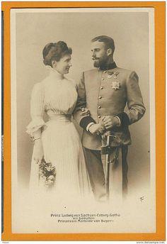 Prince Louis de Saxe-Cobourg-Gotha et Mathilde de Bavière