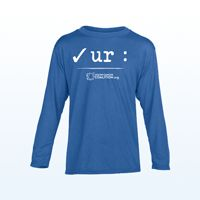 Youth Long Sleeve T-Shirt Thumbnail On average 40% of each item sold will be donated by Fusion to the Colon Cancer Coalition/Get Your Rear In Gear® to help further the mission of colon cancer screening and community education. The donation amount varies for each item.