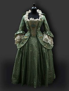 Green 18th Century gown