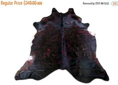 ON SALE Dyed Red Cowhide Rug with Red Acid Washed Size is 8 X 7 ft Cowhide Rug G-812 by Cowhidesusa on Etsy