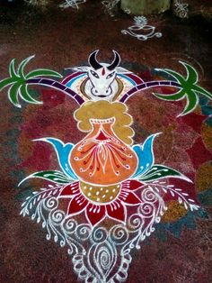 Rangoli Designs Latest, Rangoli Designs Diwali, Rangoli Designs Images, Kolam Rangoli, Simple Rangoli, Festival Decorations, Wedding Decorations, Colour Rangoli, Padi Kolam