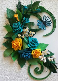 Handmade quilling wall art/ Roses/Romantic by MimiArtandCraft