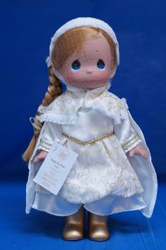 Disney D23 2015 Precious Moments Doll Frozen Anna Signed Linda Rick 5887 #PreciousMoments #VinylDolls