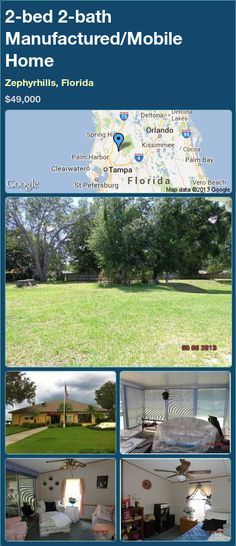 2 Bed Bath Manufactured Mobile Home In Zephyrhills Florida 42000 PropertyForSale RealEstate Magic Properties 82