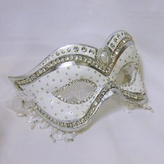 "Masquerade Mask - Wedding Mask - ""Princess Bride"". $165.00, via Etsy."