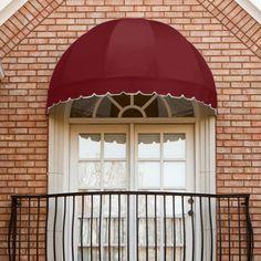 Awntech Beauty-Mark Bostonian 5 ft. Window/Door Awning Bright Blue - RB5-BB-STRAIV