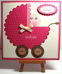It's a girl by ros - Cards and Paper Crafts at Splitcoaststampers