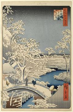 About the ArtistAndo Hiroshige was one of the most famous Japanese artists of the Ukiyo-e school. Hiroshige was born in Edo (now . Japan Design, Era Edo, Japanese Christmas, Painting Prints, Art Prints, Block Prints, Linocut Prints, Giclee Print, Paintings