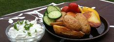 Pečené brambory s česnekovým tvarohem – rychlá večeře