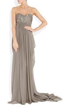 Taupe Wedding Dress